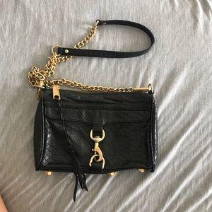 Rebecca minkoff crocodile mini MAC crossbody purse